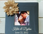 Personalized wedding picture frame, personalized wedding gift, newlywed frame by Rusty Cricket