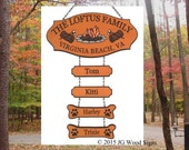 Campfire Pine Tree  Camping Graphic - Custom Carved Cedar Camping Sign  with four addons - Family Name