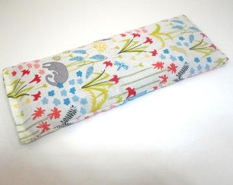 Organic Cotton Eye Pillow - Yoga pillow - tan mushroom print - unscented