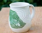 Fishy Fishy Green Mug by Bunny Safari