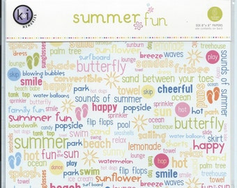KI Memories Scrapbook Paper - Summer Fun #AA247
