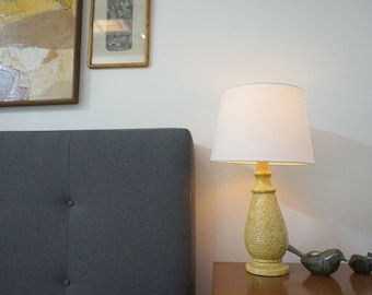 Vintage Yellow Speckled Ceramic Lamp