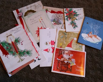 Lot of 15 Vintage 1940s Christmas Cards