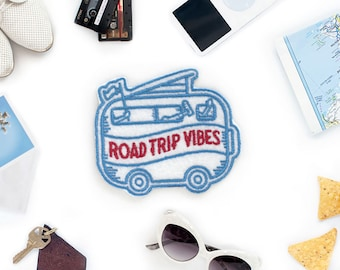 Road Trip Vibes Felt Iron on Patch - Made in USA