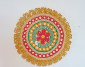 Vintage Woven Place Mat | Medallion Wall Hanging