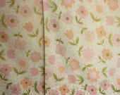 Vintage Pillowcases, Pair of Pillowcases, Pink Flower Pillowcases, Standard Size Pillowcases
