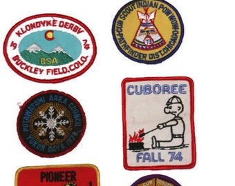 Vintage Boy Scout Patches, Set of Boy Scout Patches, Retro Cub Scout Patches, Boy Scouts 1970s, Instant Collection, Movie Props, Man Cave