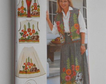 Misses Vest, Skirt, Purse and Belt Pattern Butterick 4966 Size 6 8 10 12 14 16 18 20 22 24 Bust 30 1/2 31 1/2 32 1/2 34 36 38 40 42 44 46