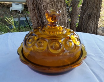 l e smith moon and stars  butter or cheese covered dish