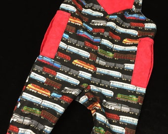 Reversible Train overall sizes newborn to 2 years