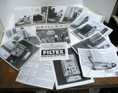 Vintage Filtex Vacuum Demo Photo Kit B&W Photographs 1950s Vacuum Cleaner Sales Demonstration Kit Mid Century