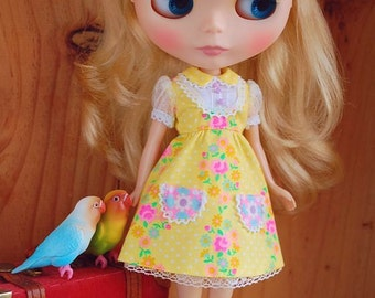 Blythe  dress set ... shining yellow
