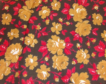 3 Yards Shabby Chic Floral Fabric