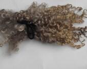 Wensleydale wool locks, TAUPE, Needle felting, Blythe doll, textiles, Dolls hair, Waldorf,  Spinning, Felting, Crafts, Carding,roving
