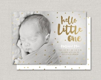 Baby Girl Birth Announcement - Holland