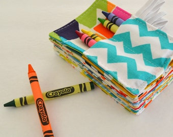 Wedding Favors . Set of 15 Mini Crayon Rolls . Birthday Party Favor . 4 Crayons Included per Roll . Art Party Favors