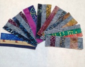 "Sale item, One bookmark, Batik bookmark, Cotton bookmark, quilted bookmark, 2""x6.5"""