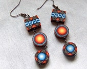 Triple Beaded Earrings