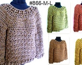 CROCHET PATTERN, Pullover Sweater,Chunky OverSized Sweater, Women's Clothing, for women teens,  #866-M-L, Quick and Easy