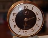 ON SALE Vintage Alarm CLOCK Lux Lebanon with Copper Tones Waterbury Conn. Retro Time