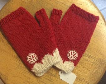 VW Fingerless Winter Mittens