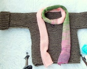 Brown Sweater, Kids Sweater; Knit Sweater for Children, Baby Sweater, Grunge Sweater for Kids, Kids' Slouchy Sweater, Kids Baggy Sweater