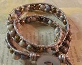 Jasper Double Wrap Bracelet