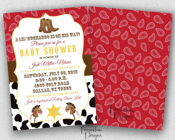Cowboy Baby Shower Invitation, Cowboy Baby Shower, printable, digital file {Baby95}