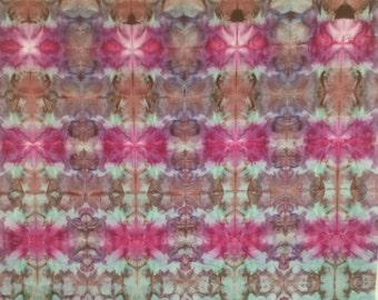 Ice Dyed Fabric - Petal Prints