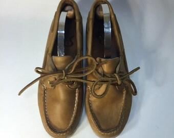 Vintage Seabowld Deck Boat Shoes Size 7