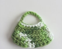 Handmade Ellowyne Gene Clothes Purse Handbag Crochet Green Variegated