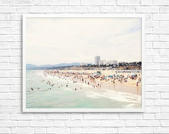 BUY 2 GET 1 FREE California Photography, Santa Monica Photo, Beach Decor, Home Decor, California Wall Art, Fine Art Print, Beach Wall Art
