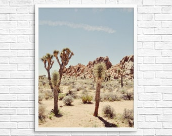 BUY 2 GET 1 FREE California Photography, Joshua Tree Photograph, Desert Photo, , Brown Tone, Yucca Tree, Home Decor - The Yucca Tree