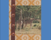 Journal or Guest book --5 Variations Custom Decorated -- Animals -  Free Shipping in USA