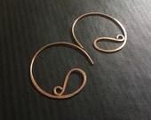 Artisan Copper Swirl Hoops