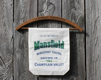 Vintage Seed Sack, Mansfield Brand, Lake Champlain Valley, Vermont New York, Feed Sacks