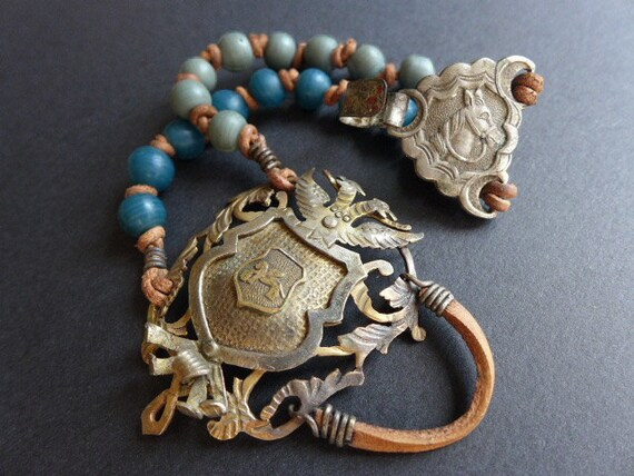 Ephydriad. Rustic assemblage bracelet.