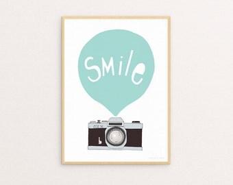 Smile Mint 30 x 40 Print