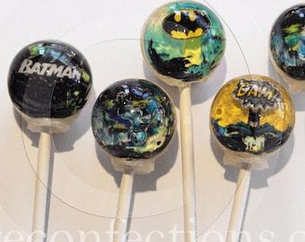 3D Batman lollipops by Vintage Confections