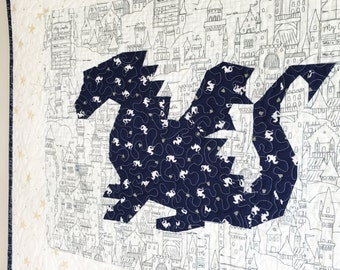Land of Magic Dragon PDF Paper Piecing Pattern