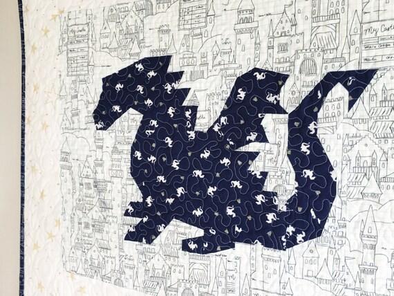 Land of Magic Dragon PDF Paper Piecing Pattern