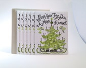 "6 pack Christmas ""Mess of Tinsel"" Letterpress Card"