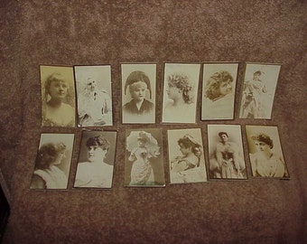 Lot Of 12--Antique--TOBACCO Cards--Ladies--Tobacco Trading Cards