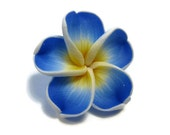 20 mm Polymer Clay Plumeria Flower Beads set of 4 (P36)