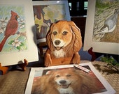 CUSTOM PET PORTRAITS just for you - Hand Carved - Hand Painted - Door or Window Toppers by Will Kay Studios