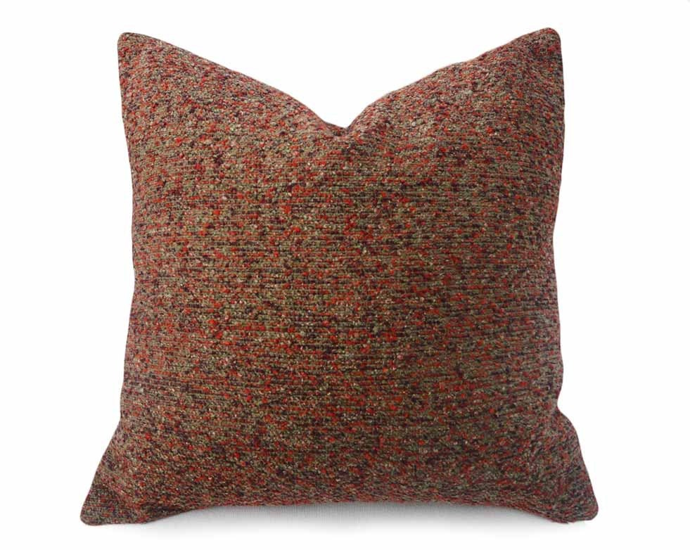 Rustic Decorative Pillow Covers : Mens Rustic Pillows Textured Pillow Covers CUSTOM FOR E