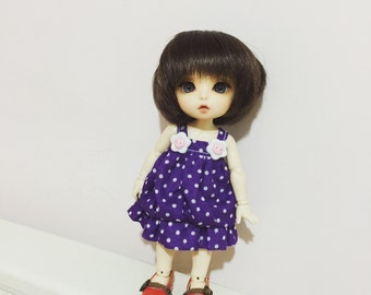 Purple and white dot dot bubble dress for Lati Yellow or Pukifee