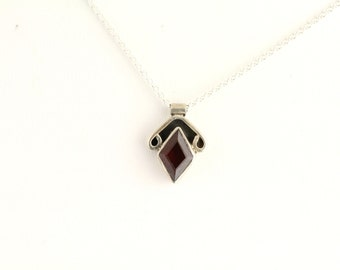 Garnet Necklace. Listing 248601173