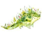 Terra Beast watercolor print