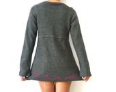 Customized Charcoal Grey Alpaga Blouse La vie en Rose